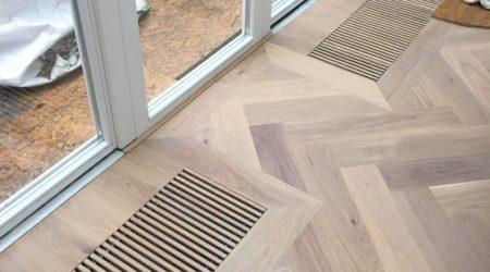 convectorput houten visgraat vloer de Bilt